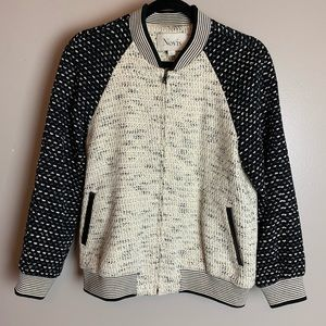 Novis The Max Tweed Colorblock Bomber Jacket